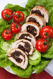 Turkey Breast Roulade on Butter Lettuce Royalty Free Stock Photos