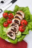 Turkey Breast Roulade on Butter Lettuce Stock Images