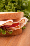 Turkey breast sandwich Stock Images