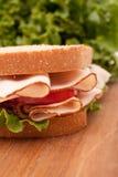 Turkey breast sandwich Stock Images