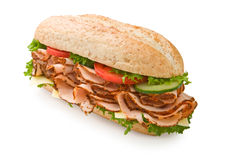 Free Turkey Breast Sandwich With Cheese & Tomatoes Royalty Free Stock Photos - 5358898