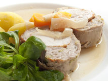 Turkey breast in slices Stock Images