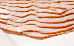 Turkey breast slices. Layered oven roasted turkey breast slices Stock Images