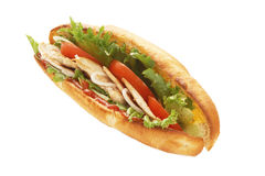 Turkey breast sub sandwich Stock Photos