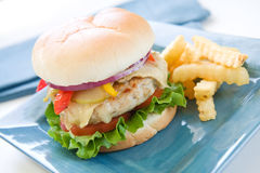 Turkey Burger Royalty Free Stock Images
