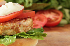 Turkey burger. Stock Photography