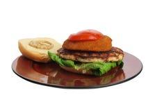 Turkey burger Royalty Free Stock Photos