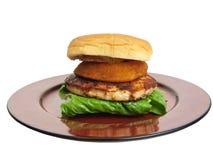 Turkey burger Stock Images