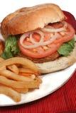Turkey burger Stock Photos