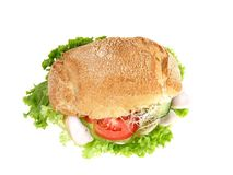 Turkey burger with salad Stock Photo