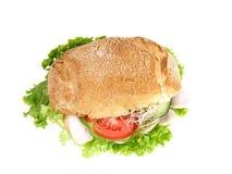 Turkey burger with salad stock photo