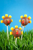 Turkey cake pops royalty free stock images
