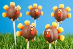 Turkey cake pops stock images
