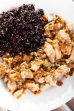 Turkey with capers and wild rice Royalty Free Stock Photos