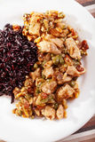 Turkey with capers and wild rice Stock Photography