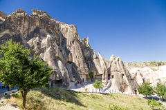 Turkey, Cappadocia. The ancient church, carved into the rock, Open Air Museum of Goreme Stock Image