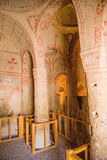 Turkey, Cappadocia. The monastery complex at the Open Air Museum of Goreme. Interior  of the cave church Stock Photography