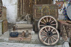 Turkey, Cappadocia. Household items in Cappadocia. Turkey, Cappadocia, Goreme Stock Photo