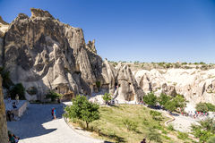 Turkey, Cappadocia. Medieval cave monastery complex in Goreme National Park Stock Photos