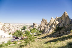 Turkey, Cappadocia. Medieval monastery complex, carved in the rocks, Open Air Museum of Goreme Stock Images