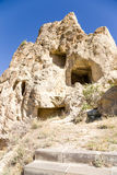 Turkey, Cappadocia. The monastery complex at the Open Air Museum of Goreme. Ruins Cave nunnery Kyzlar, XI century Royalty Free Stock Images