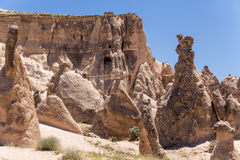 Turkey, Cappadocia. Mountain landscape with pillars of weathering (rock outcrops) in the Devrent Valley Royalty Free Stock Photography