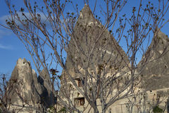 Turkey, Cappadocia. Peribadzhalary - fairy chimney of Cappadocia Royalty Free Stock Photography