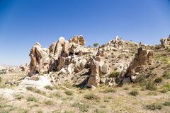 Turkey, Cappadocia. Picturesque cliffs with caves in Goreme National Park Royalty Free Stock Image