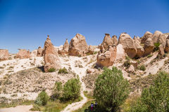 Turkey, Cappadocia. The picturesque valley Devrent with figures of weathering (outliers) Royalty Free Stock Image
