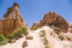 Turkey, Cappadocia. Pillars of weathering (outliers) in the Devrent Valley Royalty Free Stock Photos