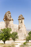 Turkey, Cappadocia. Pillars of weathering in the Pashabag Valley (Valley of the monks) Stock Photos
