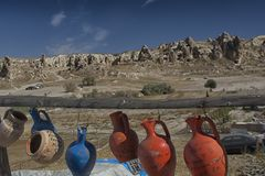 Cappadocia, pot, turkey, travel, landscape, nature, tourism, valley, Royalty Free Stock Image