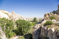 Turkey, Cappadocia. Ruins of the ancient cave monastery in the rocks Open Air Museum of Goreme Stock Photo