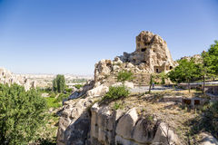 Turkey, Cappadocia. Ruins of the ancient cave monastery in the rocks Open Air Museum Goreme Stock Photos