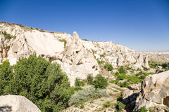 Turkey, Cappadocia. The ruins of the cave monastery complex in the Open Air Museum of Goreme Stock Photo