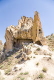 Turkey, Cappadocia. The ruins of the cave monastery in the Open Air Museum of Goreme Royalty Free Stock Image