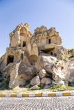 Turkey, Cappadocia. The ruins of the cave monastery into the rock at the Open Air Museum of Goreme Royalty Free Stock Photo