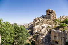 Turkey, Cappadocia. The ruins of the cave monastery in the rocks at the Open Air Museum of Goreme Stock Images