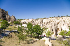 Turkey, Cappadocia. Scenic view of the cave monastery complex Open Air Museum of the National Park Goreme Stock Photo