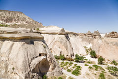 Turkey, Cappadocia. Top view of the picturesque pillars of weathering in the Valley of the Monks (Valley Pashabag) Stock Photos