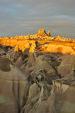Turkey. Cappadocia. View on rock-castle of Uchisar Stock Photo