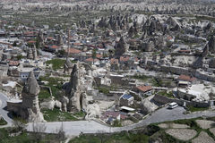 Turkey, Cappadocia. The village of Goreme in Cappadocia Stock Images
