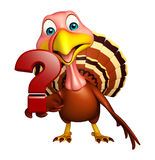 Turkey  cartoon character  with question sign Stock Photos