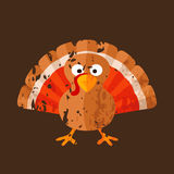 Turkey. Cartoon of turkey in grunge style Stock Images