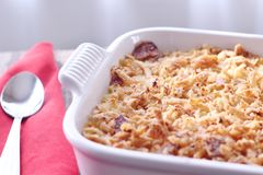 Turkey Casserole. A quick and easy, comfort food recipe. A great way to use left-over turkey from the holidays; combined with rice, cream of chicken soup stock images