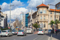 Turkey. Central part of Izmir city, street view Stock Photography