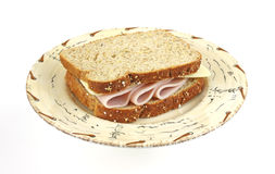 Turkey and cheese sandwich Royalty Free Stock Images