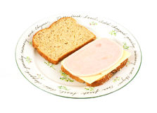 Turkey Cheese Sandwich Royalty Free Stock Photos