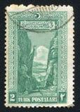 Sakarya. TURKEY - CIRCA 1926: stamp printed by Turkey, shows Sakarya, Gorge, circa 1926 Royalty Free Stock Image