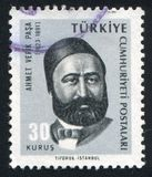 Ahmet Vifik Pasha. TURKEY - CIRCA 1965: stamp printed by Turkey, shows Ahmet Vifik Pasha, playwright, circa 1965 Stock Images